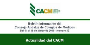 Nuevo boletín de noticias del Consejo Andaluz de Colegios de Médicos