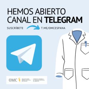 La OMC abre un nuevo canal de comunicación en Telegram