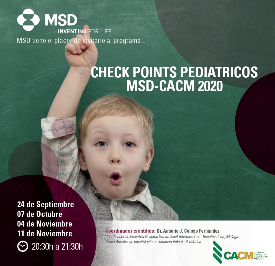 Check Points Pediátricos | 24 de septiembre al 11 de noviembre (online)