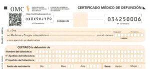 Nuevo modelo de certificado de defunción