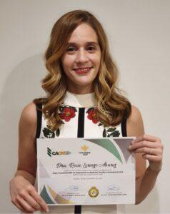 """La Dra. Rocío Lorenzo, colegiada en Commálaga,  premio """"Mejor Expediente MIR"""" del CACM"""