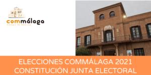 Elecciones Commálaga: constitución de la Junta Electoral